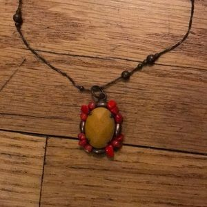 AMARO necklace yellow & red